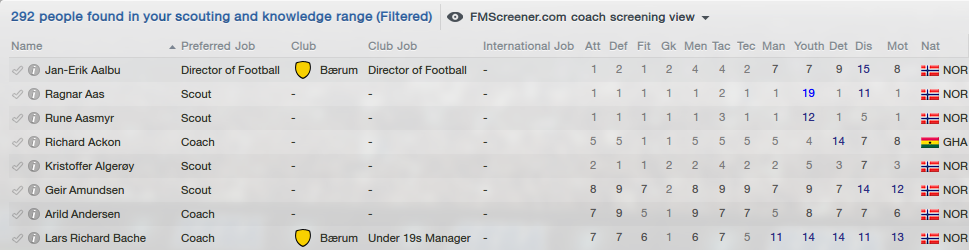New coach search view